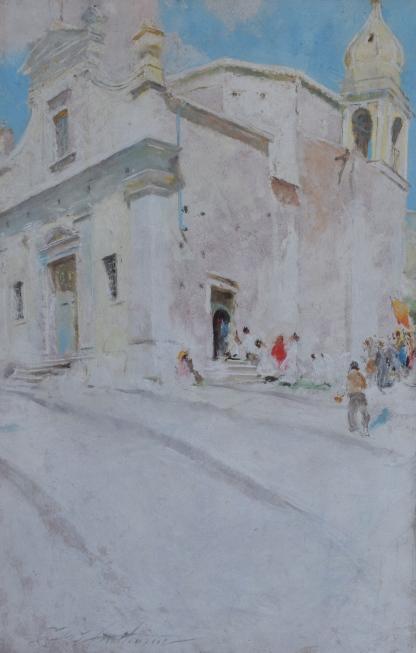 Village Church by Charles Hawthorne 16x26